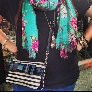 Kate Spade Striped Bow Crossbody Bag